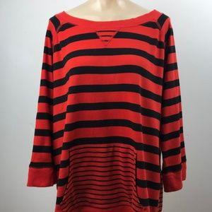 Jones New York Sport Sweatshirt, Red/Black,  Sz 3x
